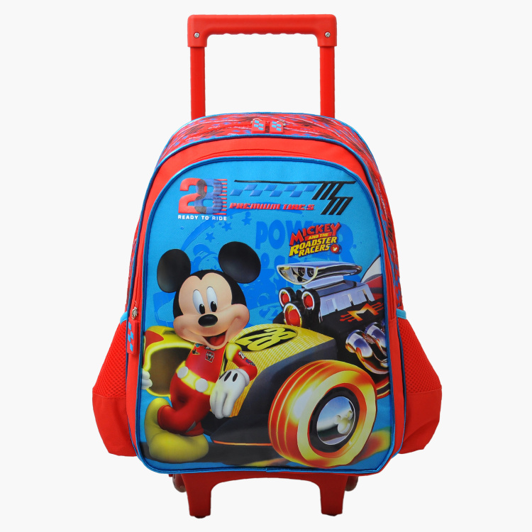 Mickey Mouse Printed Trolley Bag - 16 inches