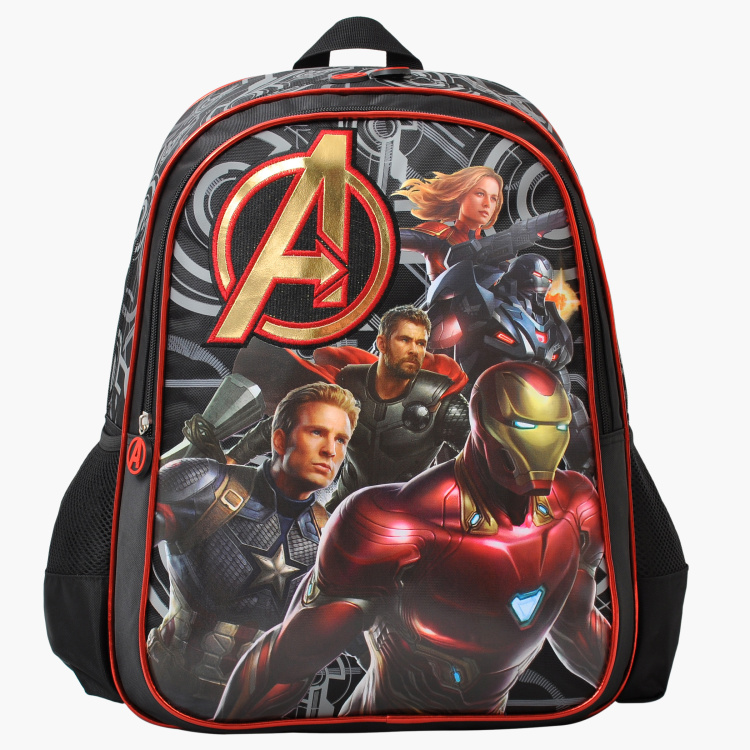 Avengers Printed Backpack with Adjsutable Shoulder Straps