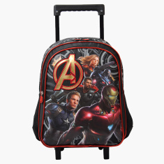 Avengers Printed Trolley Backpack with Retractable Handle