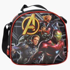 Marvel Avengers Printed Lunch Bag with Zip Closure