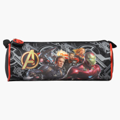 Marvel Avengers Printed Pencil Case with Zip Closure