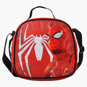 Marvel Spider-Man Printed Lunch Bag with Zip Closure