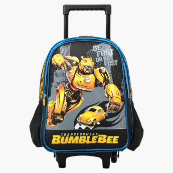 Transformers Printed Trolley Backpack with Retractable Handle
