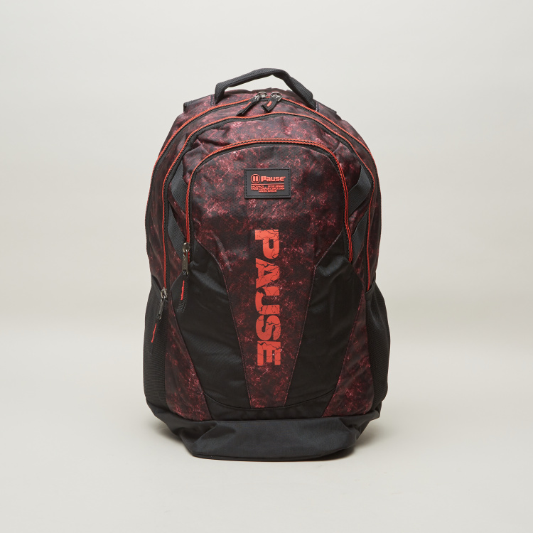 Fullstop. Pause Printed 3-Piece Backpack Set