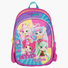 Moose Shopkins Printed Backpack with Side Pockets - 16 inches