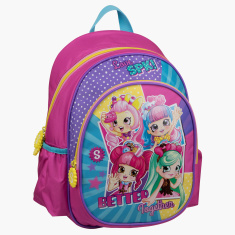 Moose Shopkins Printed Backpack with Side Pockets - 14 inches