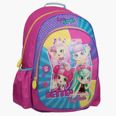 Moose Shopkins Printed Backpack with Side Pockets - 18 inches