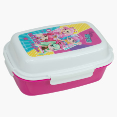 Moose Shopkins Printed Lunchbox with Clip Closures