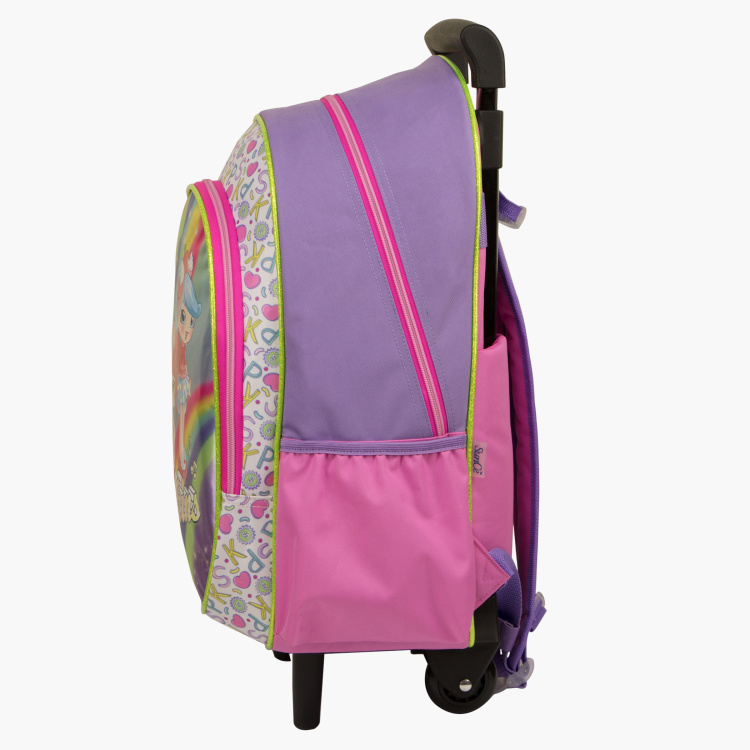 Moose Printed Backpack with Trolley