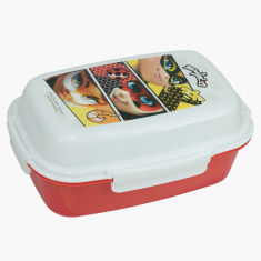 Ladybug Printed Lunchbox with Tray and Clip Closure