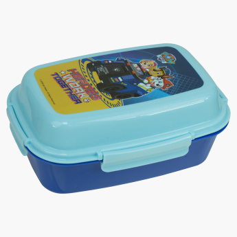 PAW Patrol Printed Lunchbox with Tray and Clip Closure