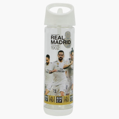 Real Madrid Printed Water Bottle with Handle and Lid - 500 ml