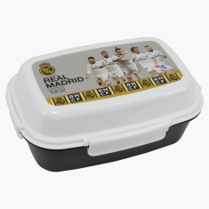 Real Madrid Printed Lunch Box with Clip Closure