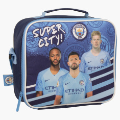 Manchester City Printed Lunch Bag with Adjustable Strap