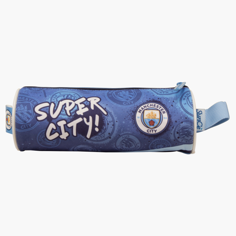 Manchester City Printed Round Pencil Case