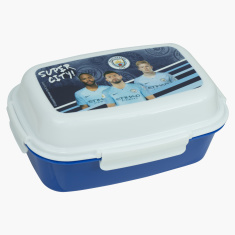 Manchester City Printed Lunch Box with Clip Closure
