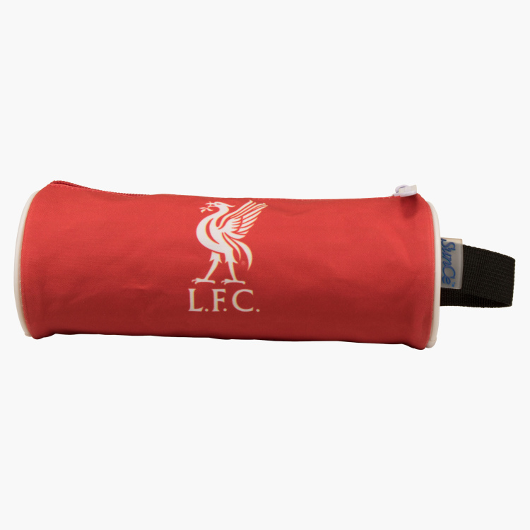 Liverpool Football Club Printed Round Pencil Case with Zip Closure