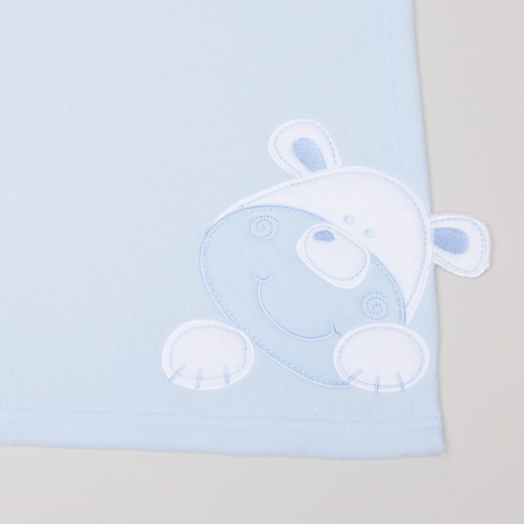 Applique Detail Fleece Blanket -76 x 102 cms