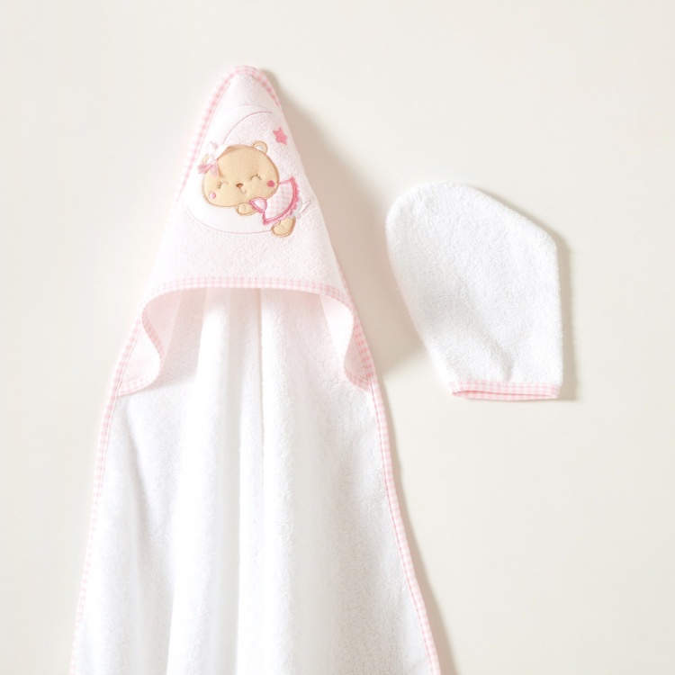 Juniors Embroidered Towel with Hood and Mittens