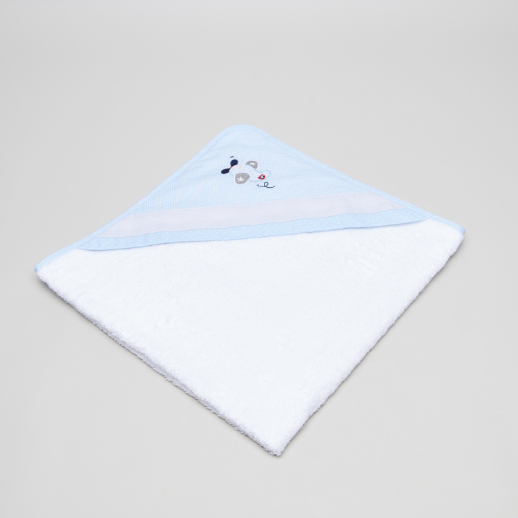 Cambrass Hooded Towel with Patch Applique Detail - 80x80 cms