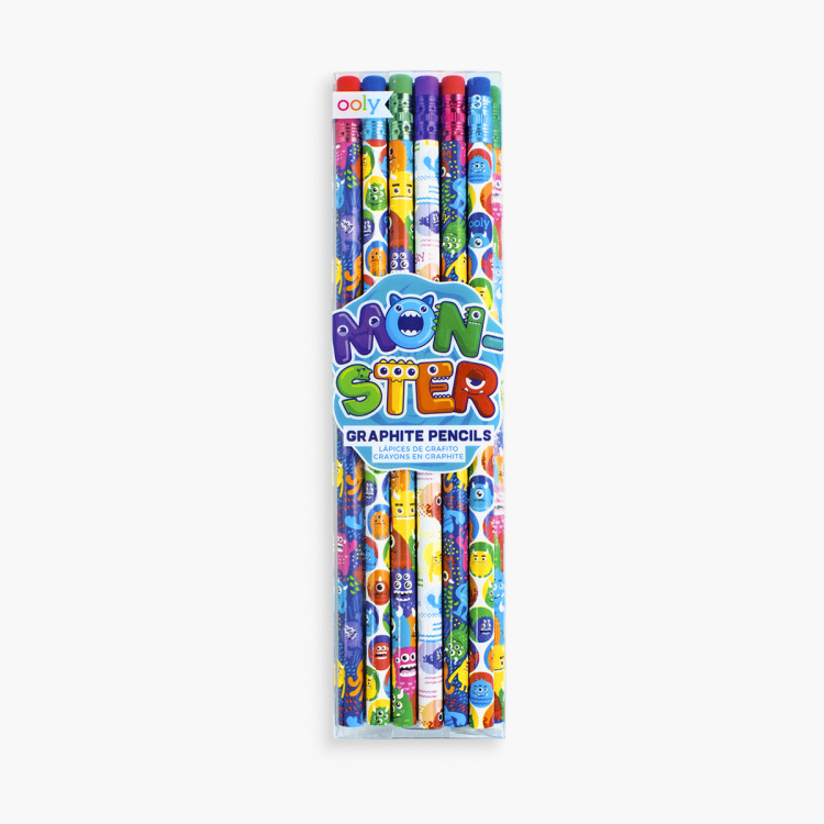 Ooly Monsters Graphite Pencils - Set of 12