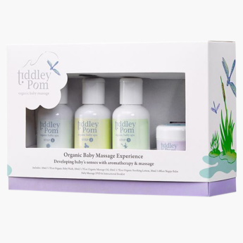 Tiddley Pom 8-Piece Baby Massage Gift Set