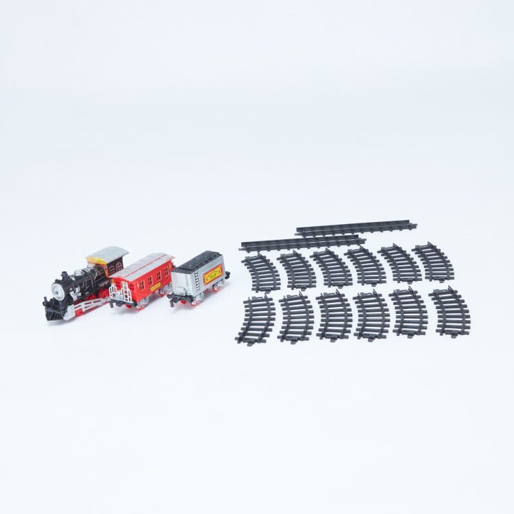 Classic Train Play Set with Electric Train Track