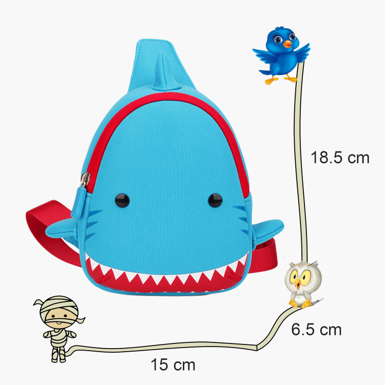 Nohoo Ocean 3D Shark Crossbody Bag