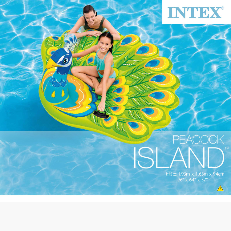 Intex Inflatable Peacock Island Pool Toy