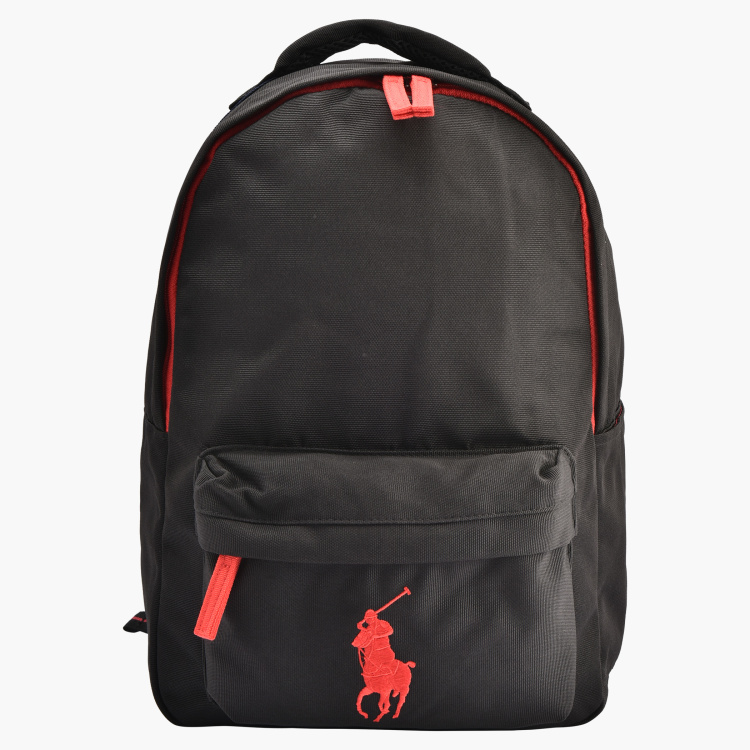 Polo Ralph Lauren Textured Backpack with Adjustable Shoulder Straps
