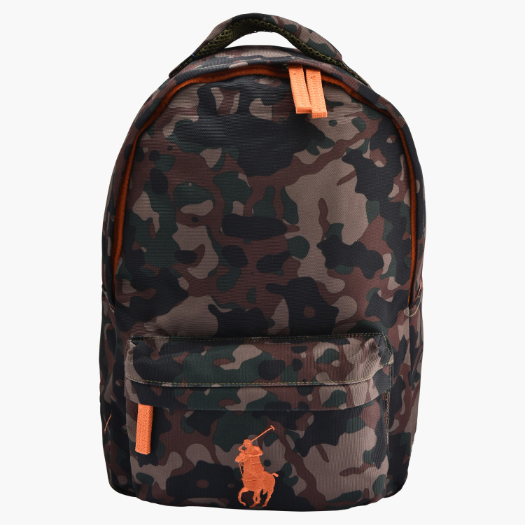 Polo Ralph Lauren Camouflage Printed Backpack with Adjustable Straps