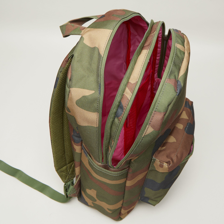 Herschel Classic Pro Camouflage Printed Backpack with Zip Closure