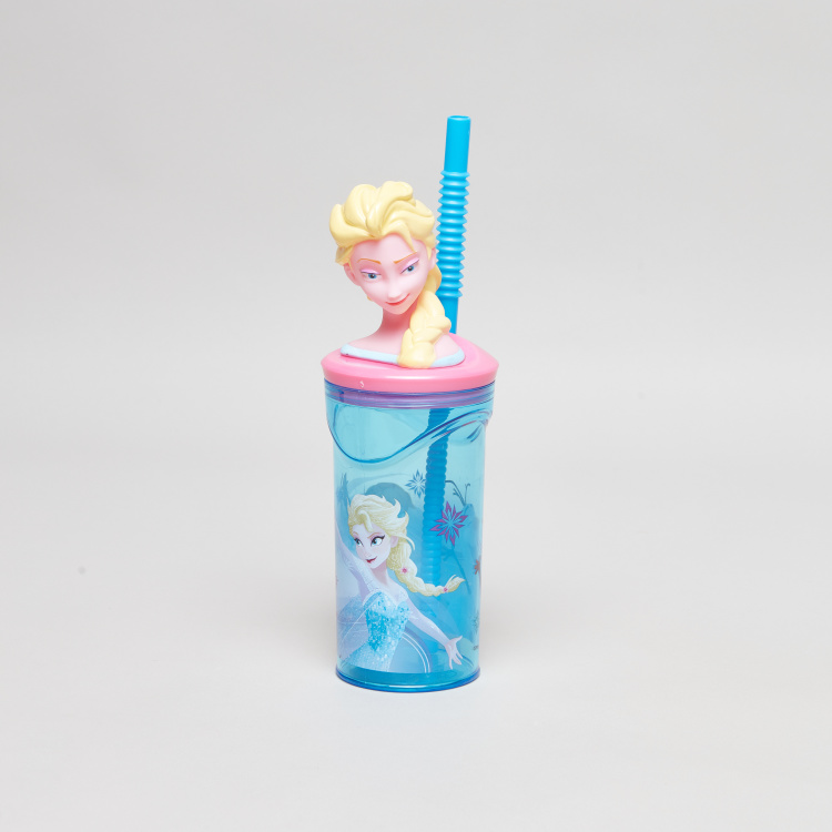 Elsa 3D Tumbler with Straw - 360 ml