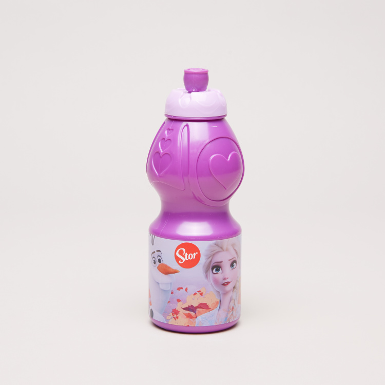Elsa Printed Sports Bottle with Push Pull Cap- 400 ml
