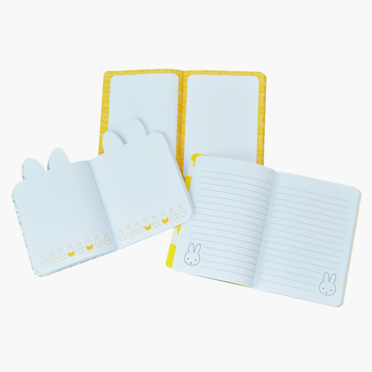 Miffy Printed Wirebound A6 Journal - Set of 3