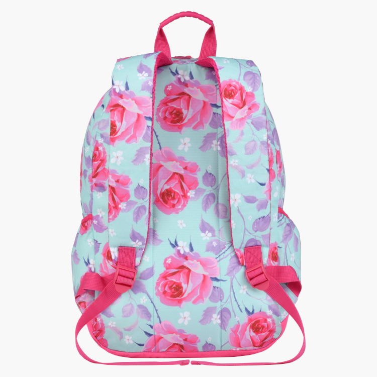 Roco Floral Printed Backpack with Adjustable Straps