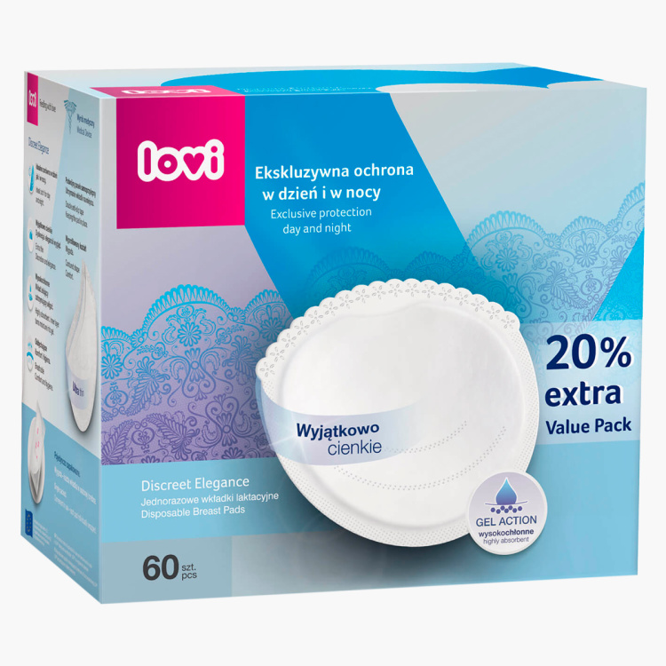 Lovi Discreet 60-Piece Breast Pads