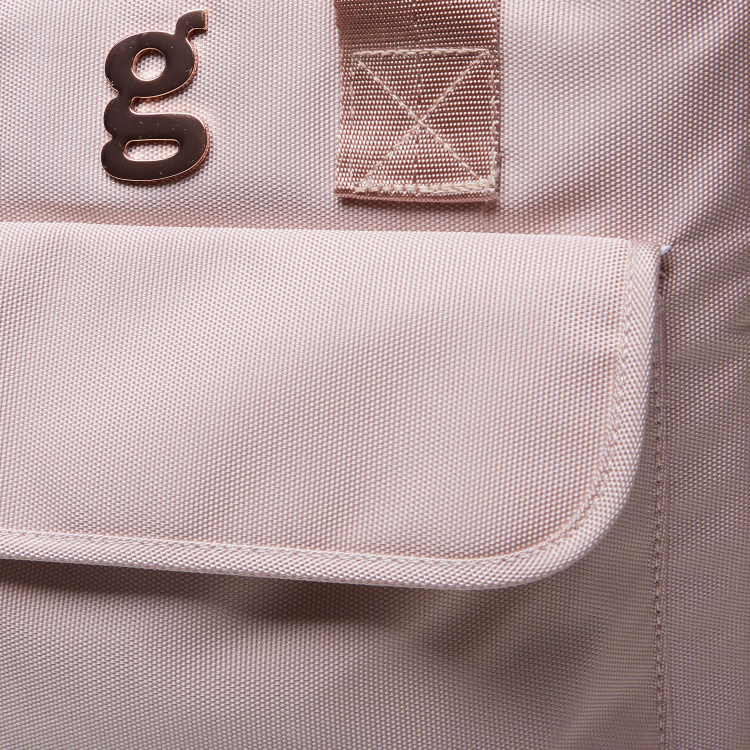 Giggles Diaper Bag with Logo Detail