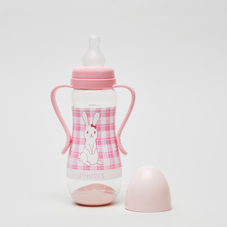 Juniors Bunny Print Feeding Bottle - 250 ml