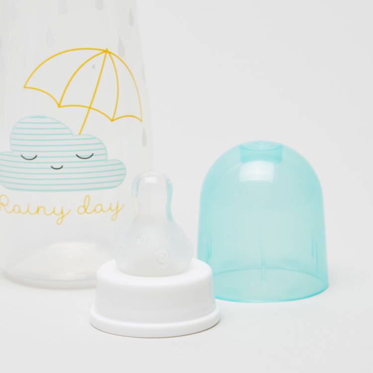 Juniors Aqua Rain Print Feeding Bottle - 300 ml