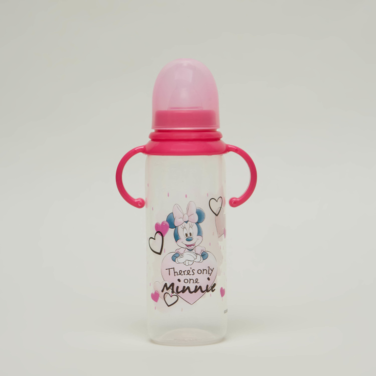 Disney Minnie Mouse Print Fedding Bottle with Handle - 250 ml