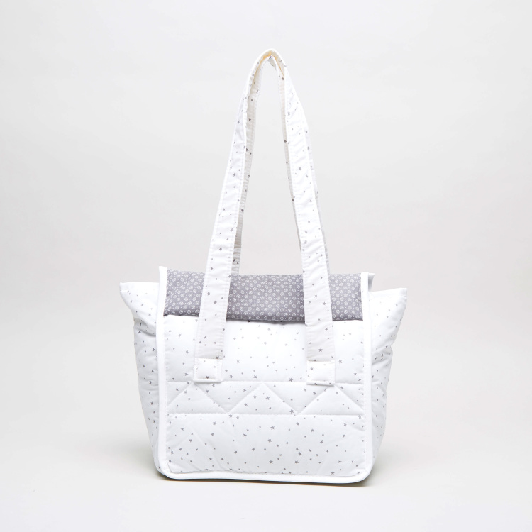 Cambrass Printed Diaper Bag with Twin Handles