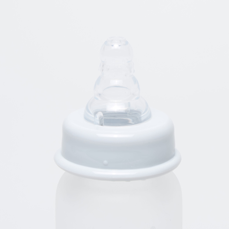 Giggles Glass Feeding Bottle with Cap - 120 ml