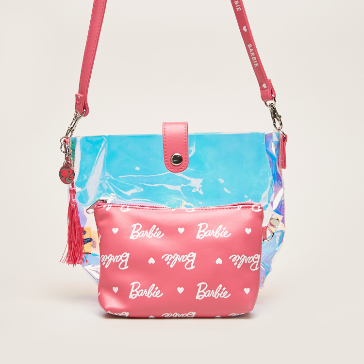 Barbie Print Handbag with Inner Pouch