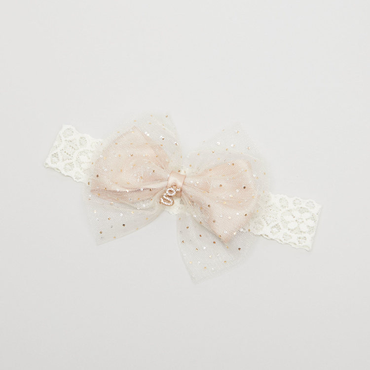 Giggles Bow Applique Detail Headband
