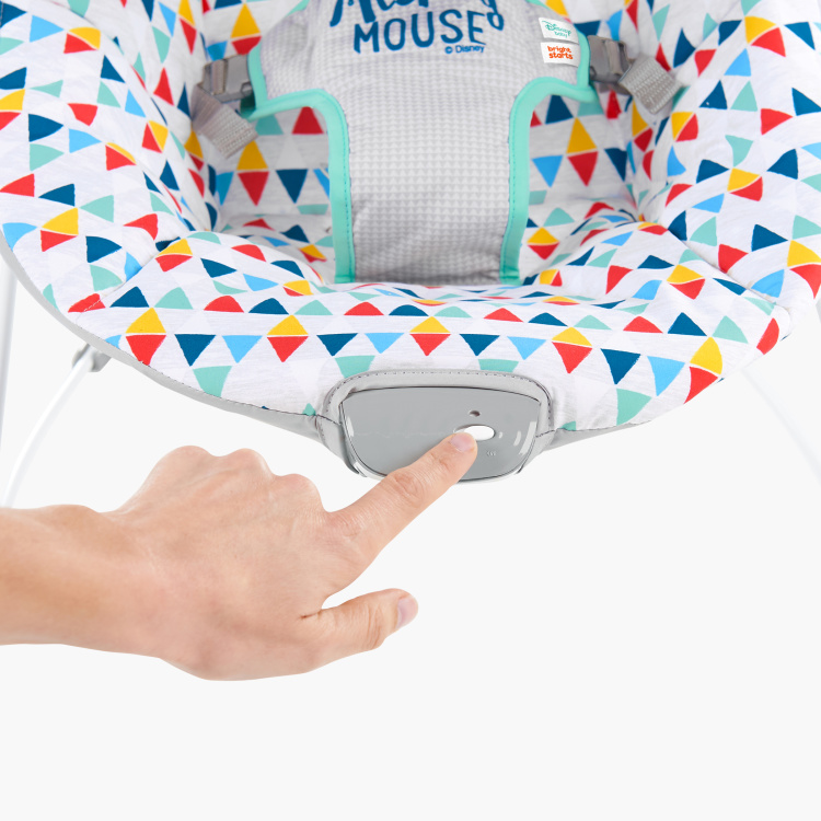 Bright Starts Mickey Mouse Print Baby Bouncer