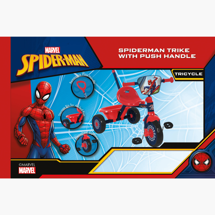 Disney Spider-Man Trike with Push Handle