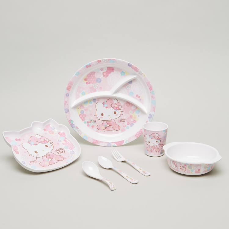 Hello Kitty Print Spoon and Fork Set