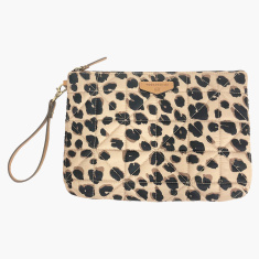 TWELVElittle Leopard Print Quilted Pouch Diaper Bag