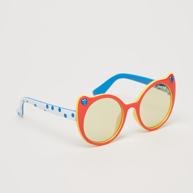 Charmz Full Rim Sunglasses with Printed Temples and Nose Pads